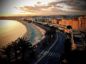 Sunset in Nice, the South of France